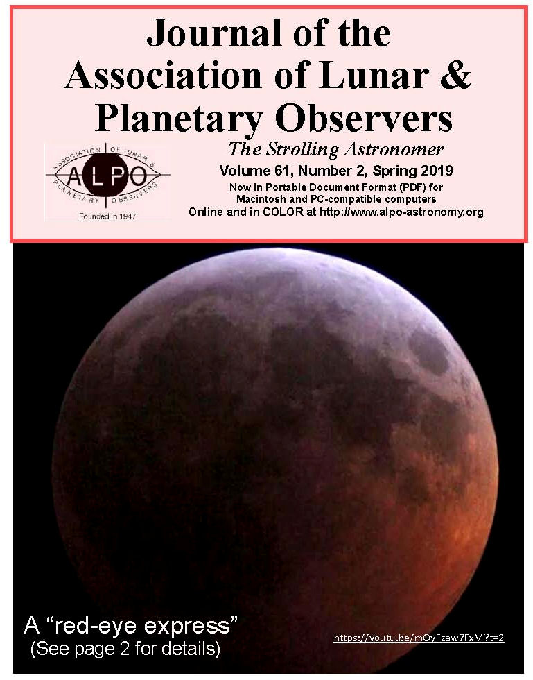 The Association of Lunar & Planetary Observers ALPO Home
