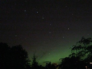 Aurora with the Big Dipper